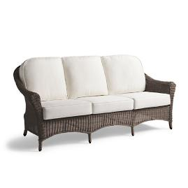Charleston Sofa with Cushions in French Roast Finish