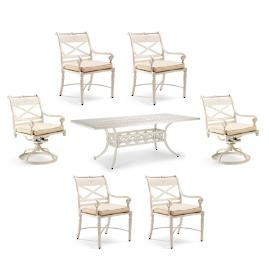 Carlisle 7-pc. Rectangular Dining Set in Parisian Ivory