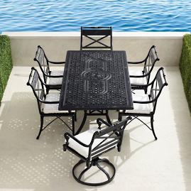 Carlisle 7-pc. Rectangular Dining Set in Onyx Finish