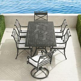 Carlisle 7-pc. Rectangular Dining Set in Slate Finish