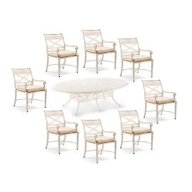 Carlisle 9-pc. Oval Dining Set in Parisian Ivory