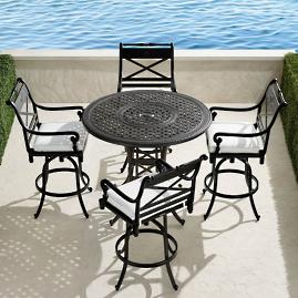 Carlisle 5-pc. High Dining Set in Onyx Finish
