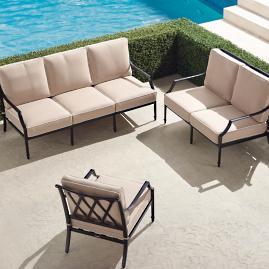 Grayson 3-pc. Sofa Set in Black Finish