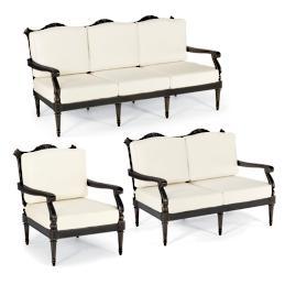 Glen Isle 3-pc. Sofa Set in Midnight Gold