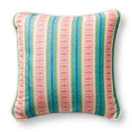 Diamond Trail Tropical Outdoor Pillow