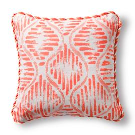 Painted Ogee Melon Outdoor Pillow with Cording
