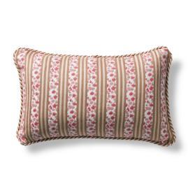 Dappled Path Magenta Outdoor Lumbar Pillow with Cording