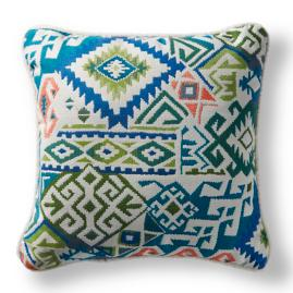 Kilim Chic Tropical Outdoor Pillow