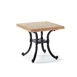 Carlisle Mosaic Stone-top Side Table in Slate Finish