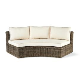 Hyde Park Curved Sofa with Cushions