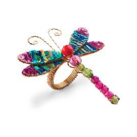 Kim Seybert Dragonfly Sequin Napkin Rings, Set of