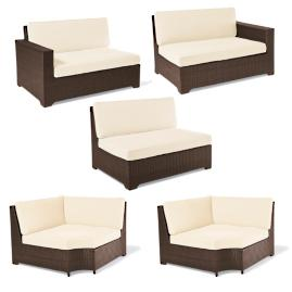 Palermo 5-pc. Double Modular Set in Bronze Finish