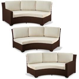 Palermo 3-pc. Curved Modular Set in Bronze Finish
