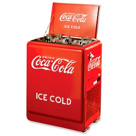 Refrigerated Rolling Coca-Cola Cooler