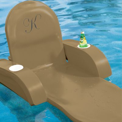 Monogrammed Pool Chaise Frontgate