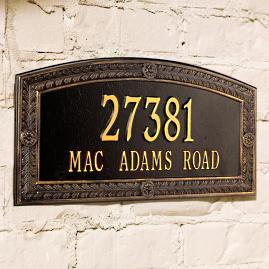 Hamilton Standard Address Plaque