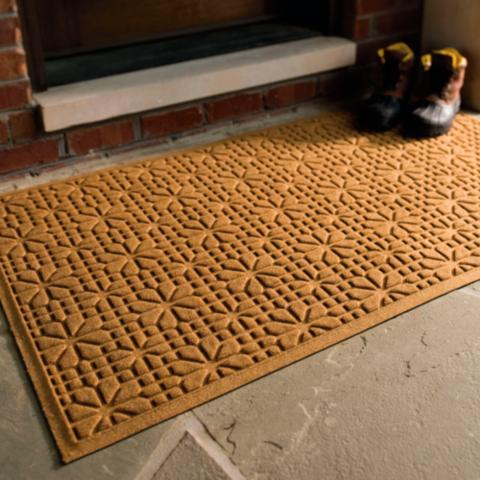 Water Amp Dirt Shield Stained Glass Door Mat Frontgate