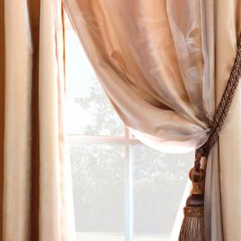Charmeuse Sheer Curtain Panel Overlay