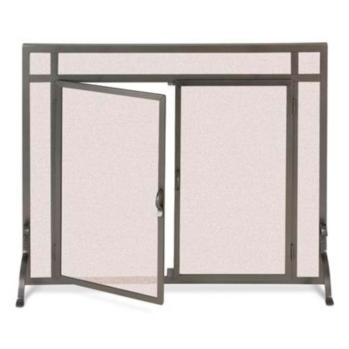 Forged Fireplace Screens : Custom straight top forged fireplace screens frontgate