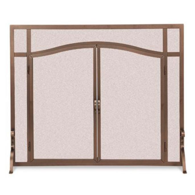 Forged Fireplace Screens : Custom arched top forged fireplace screens frontgate