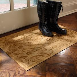 Low-profile Lattice Scroll Doormat