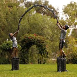 Jump Rope Arbor Bronze Sculpture