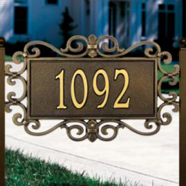 Mears Fretwork Address Plaque