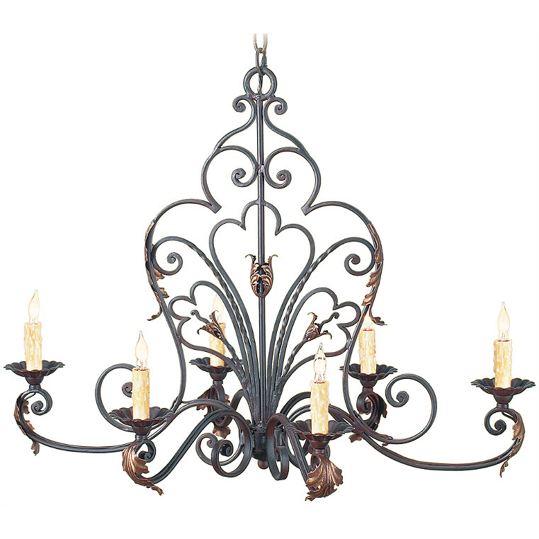 Wrought iron chandelier frontgate - Classic wrought iron chandeliers adding more elegance in the room ...