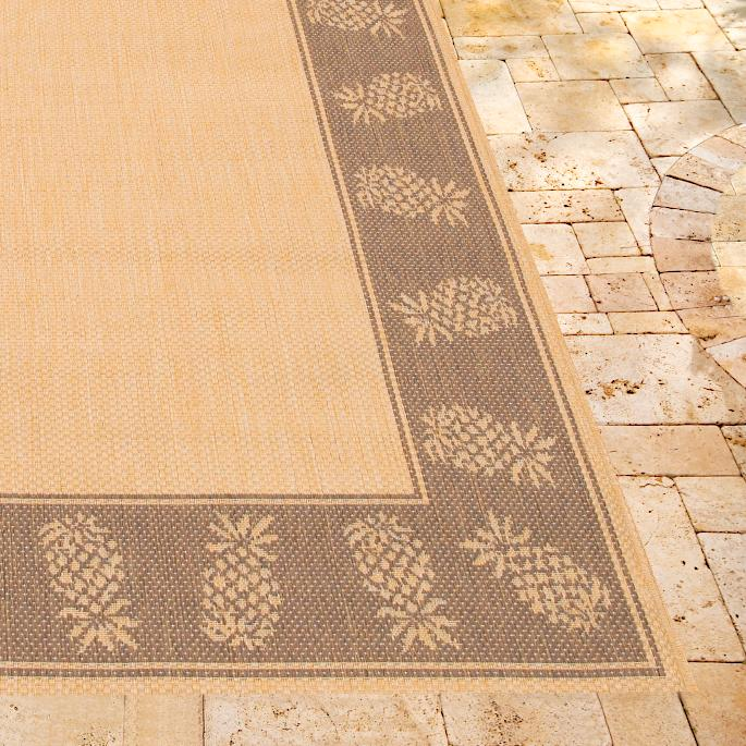 Oasis Retreat Outdoor Rug in Natural & Cocoa Frontgate