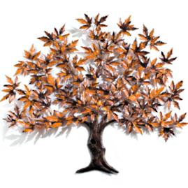 Maple Tree Copper Wall Sculpture