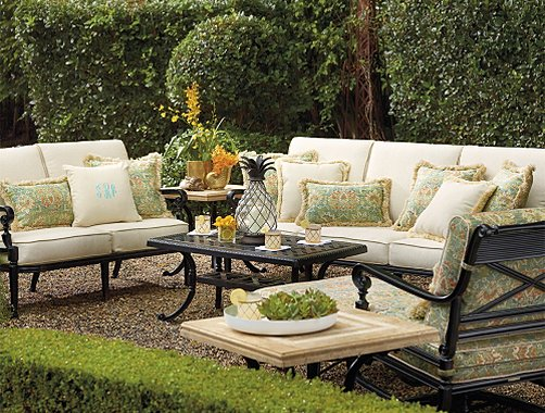 Frontgate Carlisle Furniture Collection Onyx Outdoor
