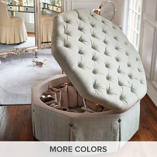 Luxury Benches Storage Ottomans Fabric