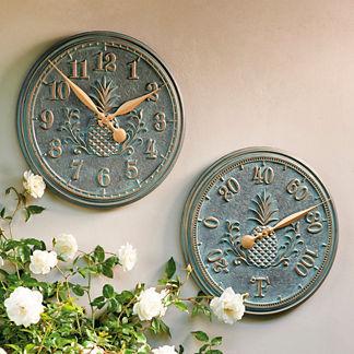 Outdoor Clocks Outdoor Thermometer Outdoor Clock