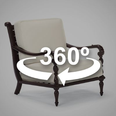 British Colonial Lounge Chair with Cushions - Frontgate