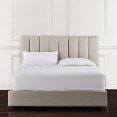 Lyell Channel Quilt Upholstered Bed Frontgate