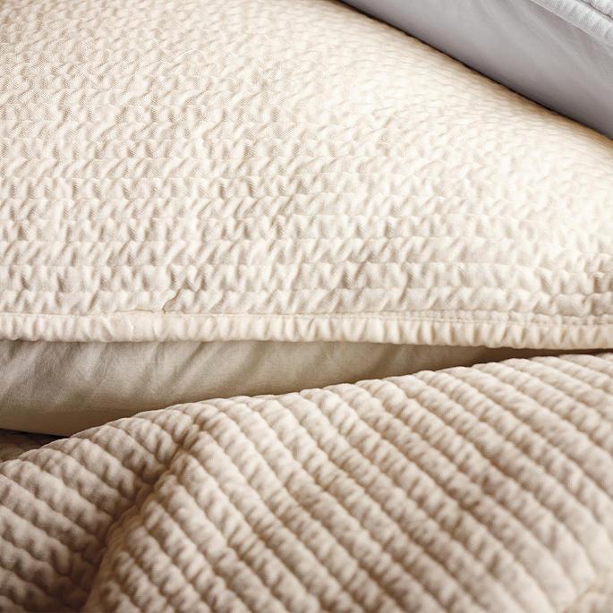 parker velvet channeled bedding collection