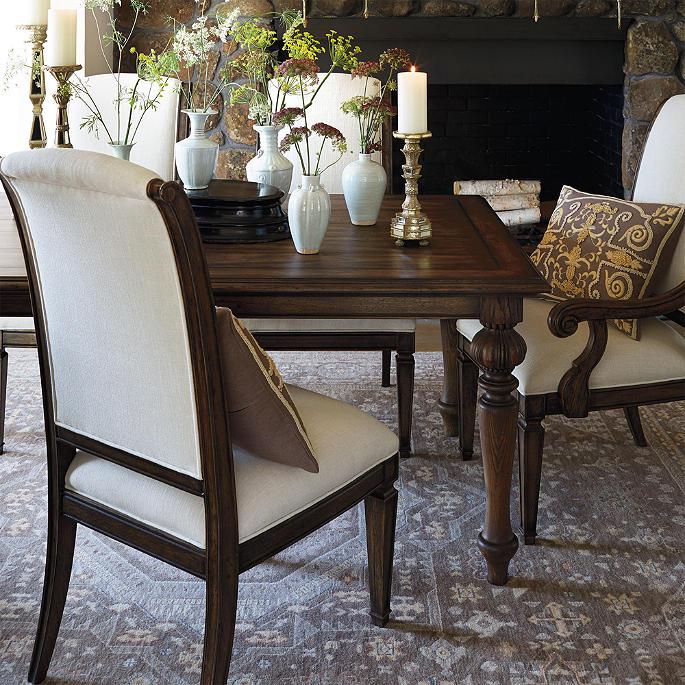avignon pedestal dining table | frontgate