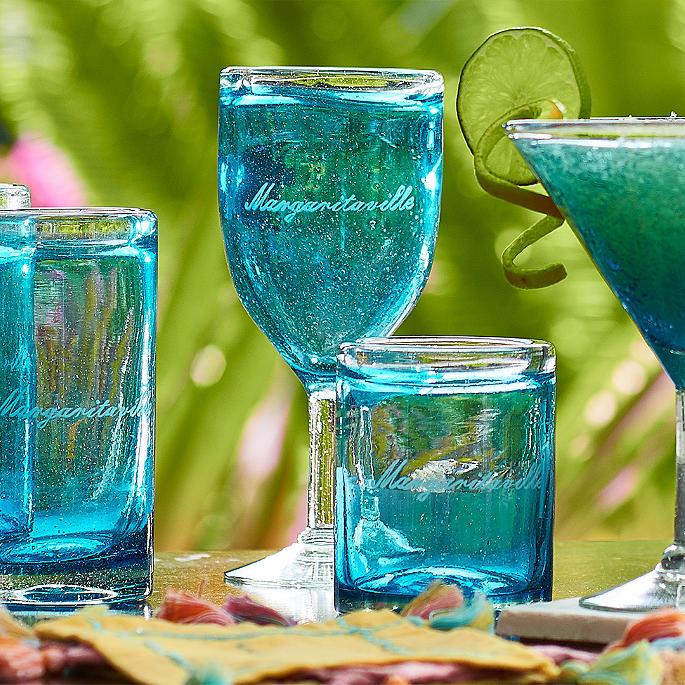 Margaritaville Ocean Breeze Highball Glasses, Set Of Four