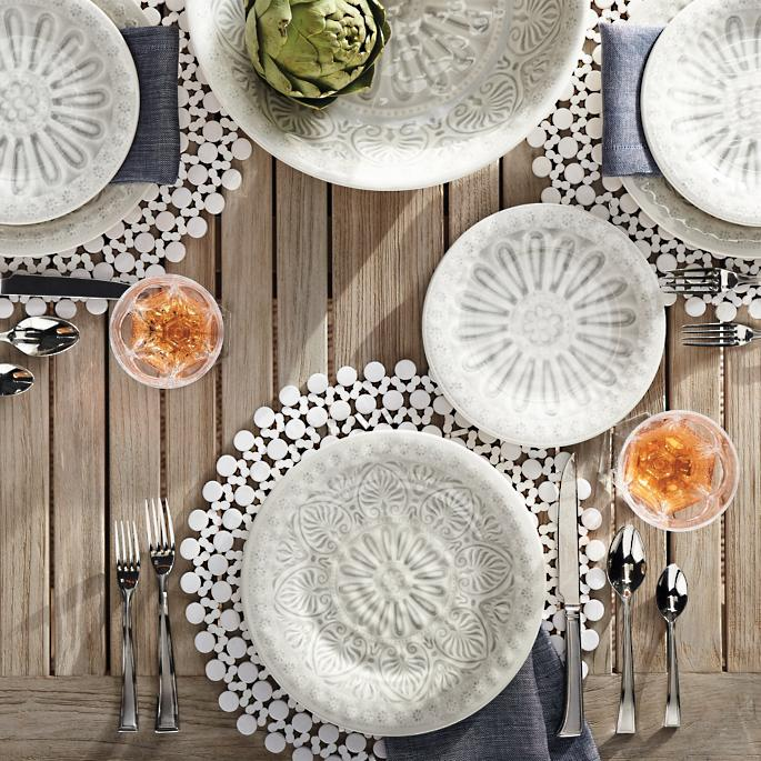 ibiza melamine dinner plates set of four - Melamine Dinner Plates