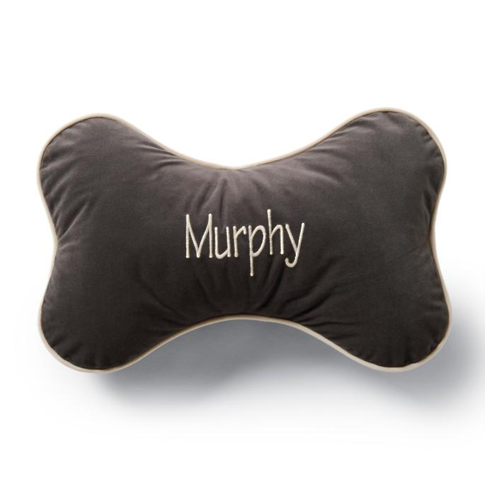 Personalized Bone Dog Pillow | Frontgate