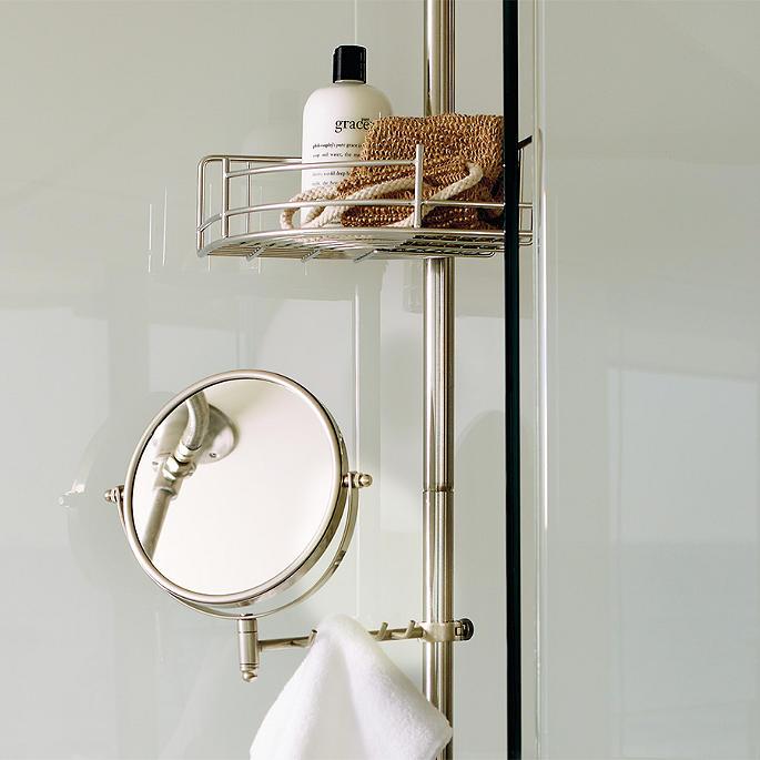 tension-mount shower butler