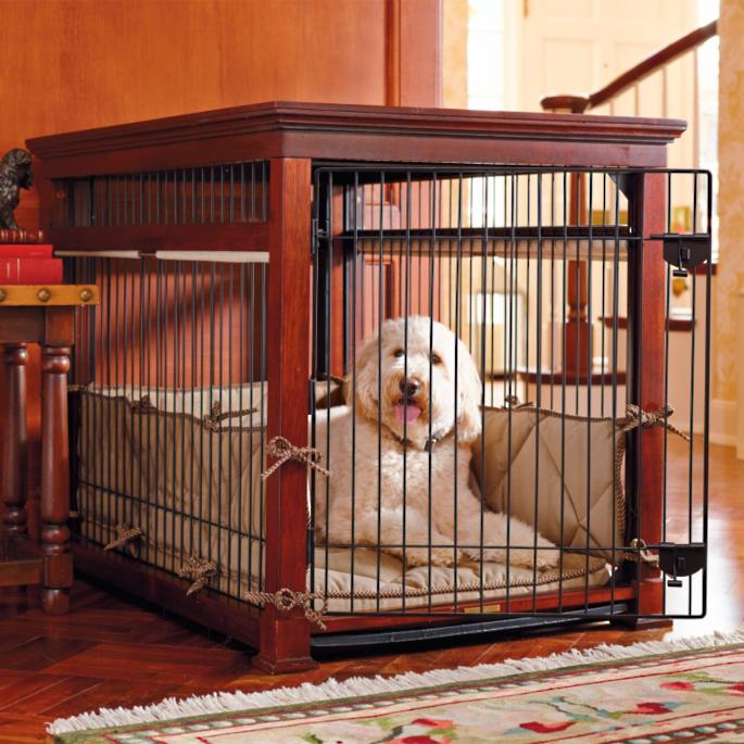 luxury mahogany pet residence dog crate frontgate With luxury dog cages