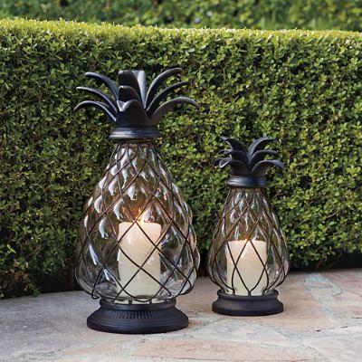 Pineapple Hurricane Lantern Frontgate