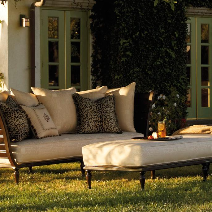 British Colonial Daybed and Ottoman with Cushions - Frontgate
