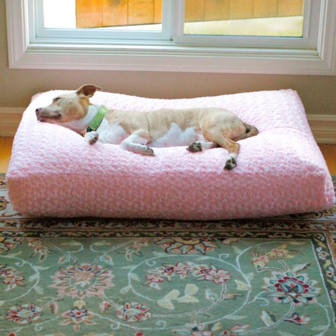 animals matter chenille katie pet bed and blanket