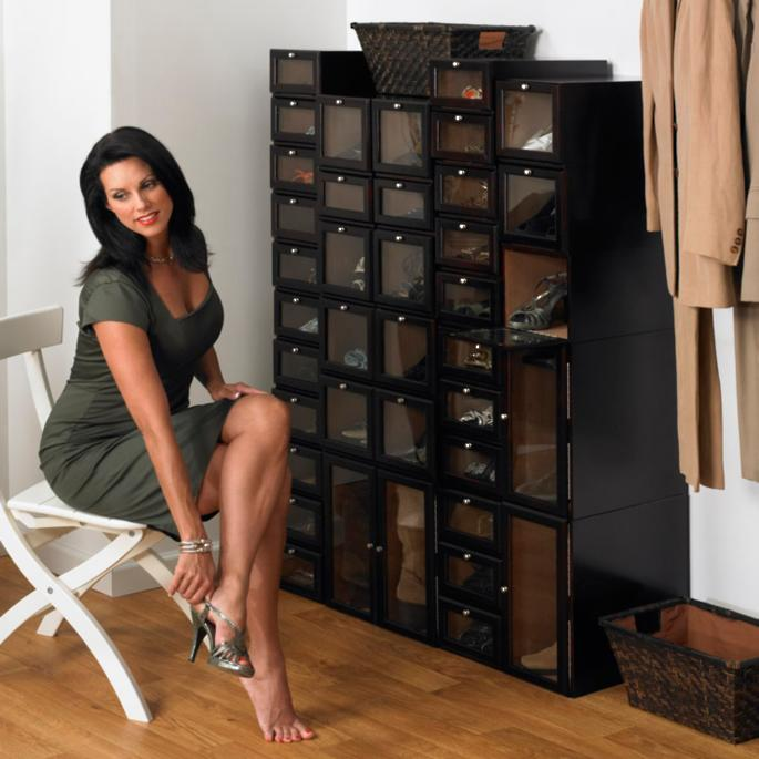 Home Modular Wood Shoe Organizing System