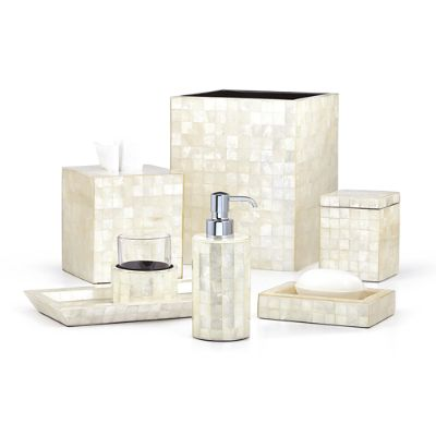 Labrazel capiz bath accessories frontgate - Capiz shell bathroom accessories ...