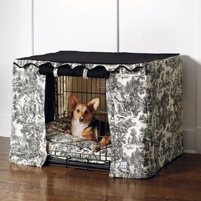 Toile Crate Cover And Pet Bed Frontgate