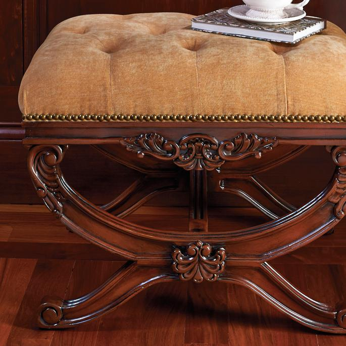 Lourdes Tufted Bench - Frontgate