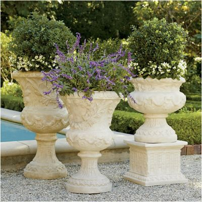 Provence Urns And Plinth Frontgate
